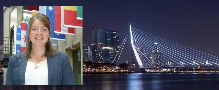 Nathalie voor VKOZ in Rotterdam