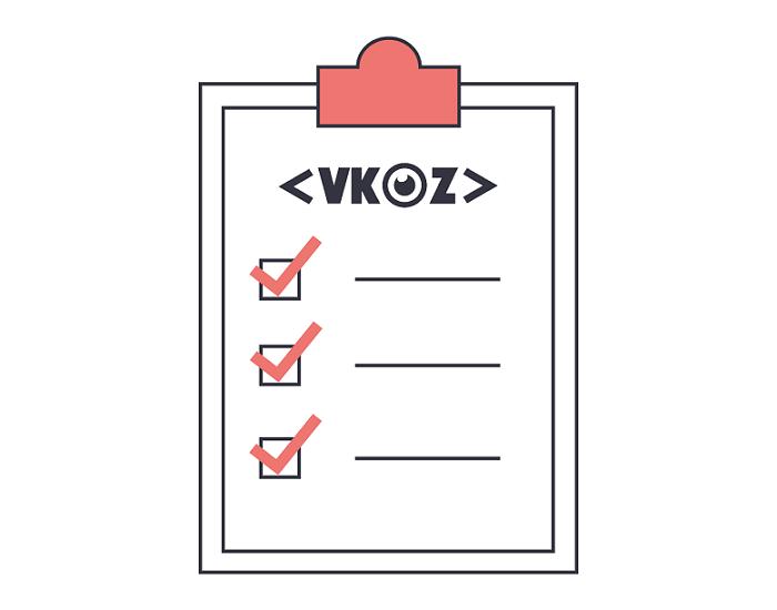 VKOZ checklist events