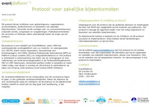 protocol zakelijke events VKOZ